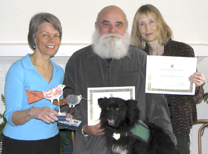 L to R: Linda, Clyde, Dr. Willie & Debra with awards