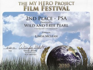 "MY HERO Award 2010 - for ""Wild and Free"" Pearl"