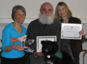 L to R: Linda, Clyde, Willie & Debra with MY HERO awards 2007